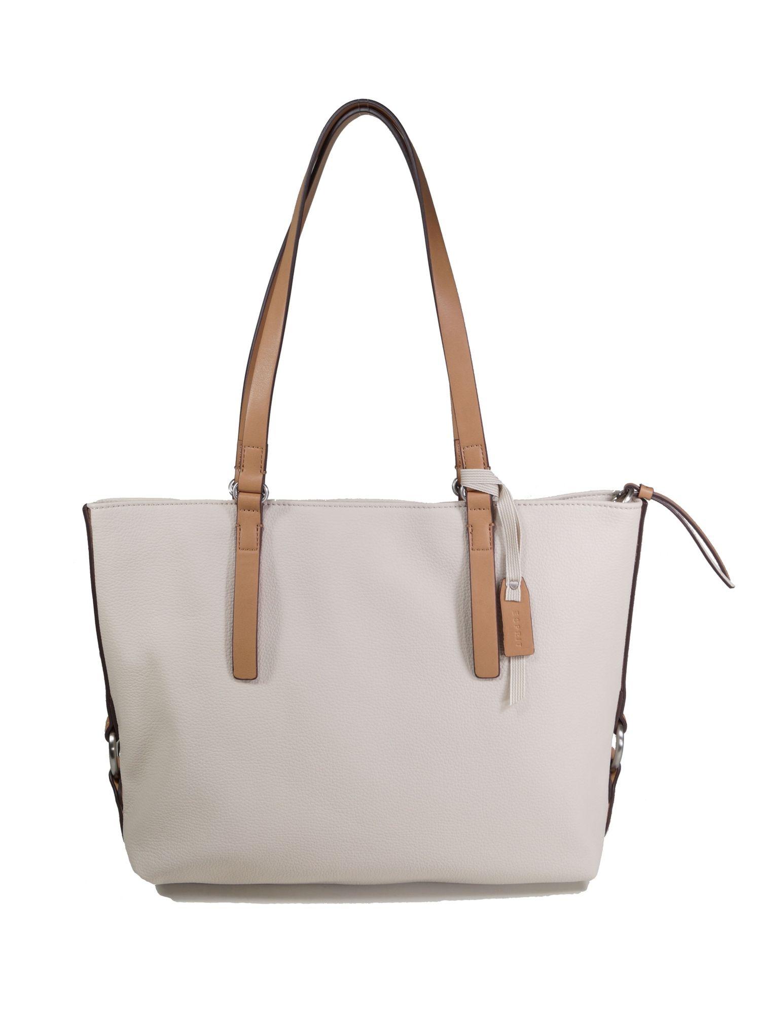963f9e61c5300a Damen Kaufen Tasche Esprit Handtasche Shopper Weiß Cheryl TF1J3lKc