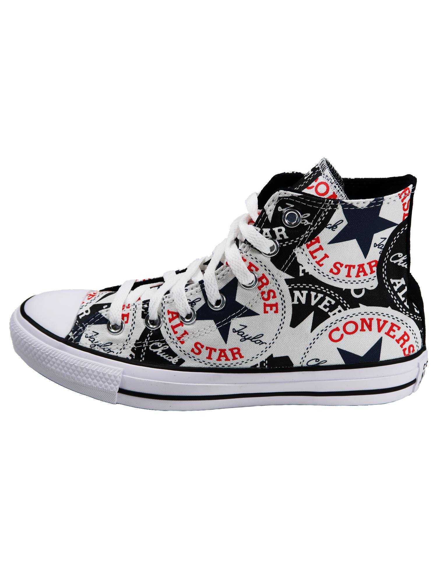 Converse Damen Schuhe CTAS Hi Schwarz Leinen Sneakers Größe 41.5 EU