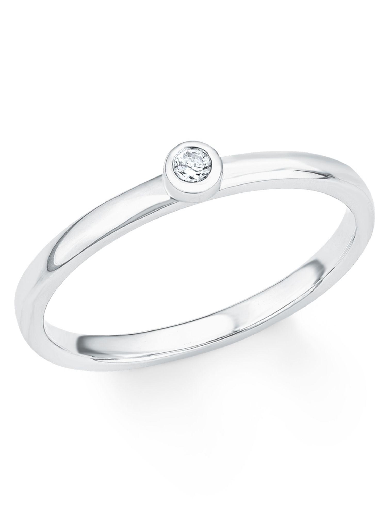 2022727 s.Oliver Damen Ring Sterling-Silber 925 Silber Weiß Zirkonia 56 17.8