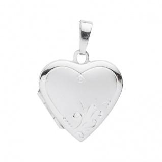 Basic Silber 26.0108 Damen Anhänger Herz Medaillon Silber