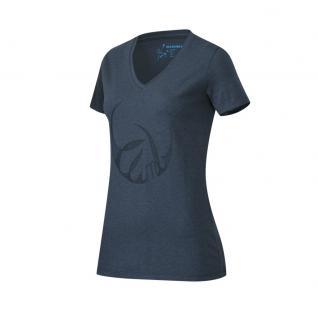 Mammut Damen Kurzarm Zephira T-Shirt Women Blau Freizeitshirt M