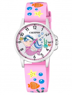 Calypso K5782/1 Meerjungfrau Uhr Mädchen Kinderuhr Kunststoff rosa