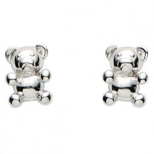Basic Silber 01.KS106 Mädchen Ohrstecker Teddybär Silber - Vorschau 1