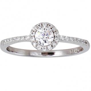 XENOX XS7366 Damen Ring Silver Circle Silber weiß 54 (17.2)