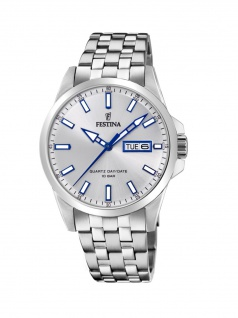 FESTINA F20357/1 Uhr Herrenuhr Edelstahl Datum Silber