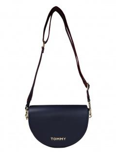Tommy Hilfiger Damen Handtasche Tasche Tommy Staple Saddle Blau