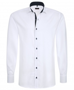Eterna Herrenhemd Langarm 8100/00/F132 Hemd Slim Fit Weiß M/39