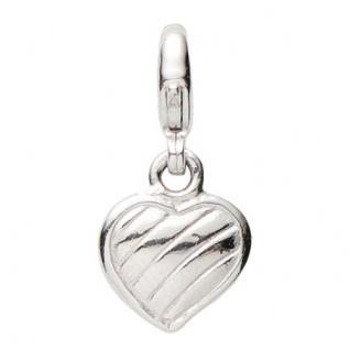Basic Silber 22.VX096 Damen Charms Herz Silber