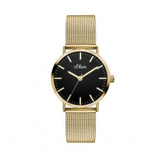 s.Oliver SO-3329-MQ Uhr Damenuhr Edelstahl Gold