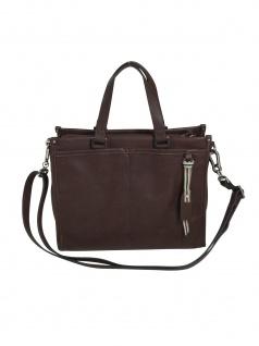 Esprit Damen Handtasche Tasche Henkeltasche Kayla City Bag Braun