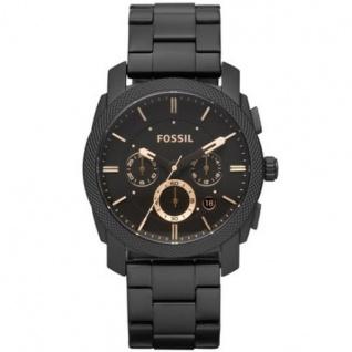 Fossil FS4682 Herrenuhr Uhr Datum Chronograph Modell Machine schwarz