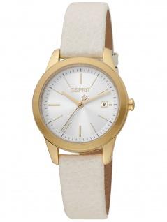 Esprit ES1L239L0035 Wind Ivory Gold Uhr Damenuhr Leder Datum beige