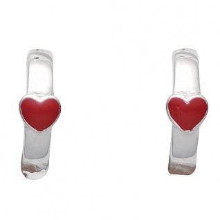 Basic Silber 05.KS104 Mädchen Creolen Herz Silber