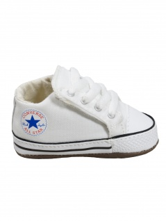 Converse Baby Kinder Schuhe CT All Star Cribster Mid Weiß Leinen 20 EU