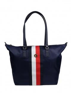 Tommy Hilfiger Damen Handtasche Tasche Shopper Poppy Tote Blau