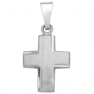 Basic Silber SKE13 Damen Anhänger Kreuz Silber