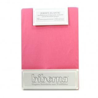 Biberna 77866-173 Jersey Elastic Spannbetttuch Pink 140x200 - 160x220