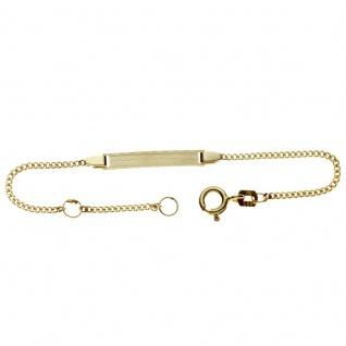 Basic Gold TG08 Kinder Gravur Armband 14 Karat (585) Gelbgold 11, 5 cm