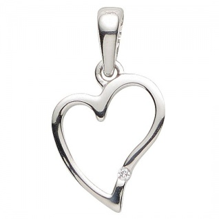 Basic Silber 21.1180S Damen Anhänger Herz Silber Zirkonia weiß
