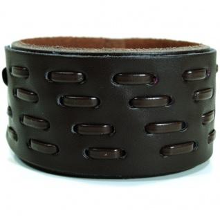 CJBB1924 Herren Armband Leder braun 21, 5 cm