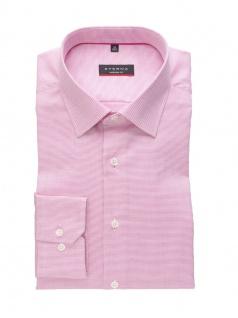 Eterna Herren Hemd Langarm Modern Fit Natté strukturiert Pink M/40