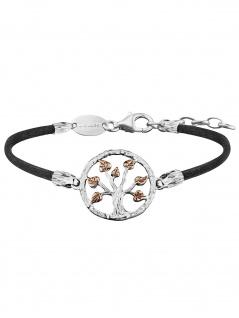 Julie Julsen JJBR0257.8 Damen Armband Baum Bicolor Rose Schwarz 19 cm