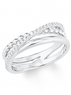 s.Oliver 2022747 Damen Ring Sterling-Silber 925 Silber Weiß 54 (17.2)