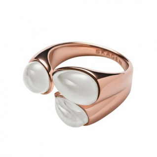 Skagen Damen Ring SEA GLASS Edelstahl rosé Glas 56 (17.8)