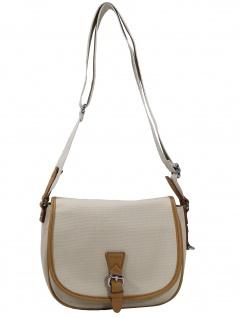 Esprit Damen Handtasche Tasche Susie T Canvas Beige 040EA1O335-290