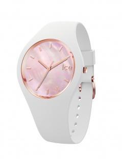 Ice-Watch 017126 ICE pearl white pink Medium Uhr Damenuhr Weiß