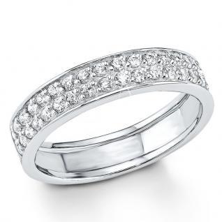 s.Oliver 9079766 Damen Ring Sterling-Silber 925 Silber Weiß 58 (18.5)