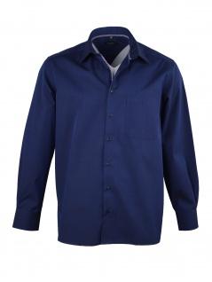 Eterna Herren Hemd Langarm Comfort Fit 3072/19/E18E Blau XL/44 - Vorschau 2