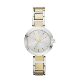 DKNY STANHOPE Uhr Damenuhr Edelstahl bicolor gold