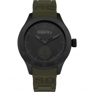 Superdry SYG212NB Scuba Small Sec Uhr Herrenuhr Silikon Grün