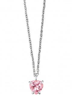 Herzengel HEN-HEART03-ZI Mädchen Collier Herz Silber rosa 42 cm