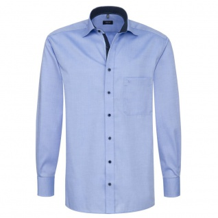 Eterna Herrenhemd Langarm Comfort Fit Blau Gr. XXL/45 8100/12/E137