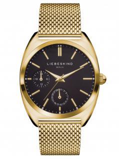 LIEBESKIND LT-0041-MM Uhr Damenuhr Edelstahl Datum Gold