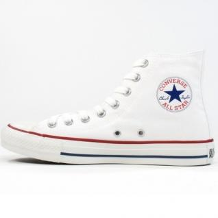 Converse Herren Schuhe All Star Hi Weiß M7650C Sneakers Chucks 41, 5