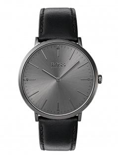 Hugo Boss 1513540 Horizon Uhr Herrenuhr Lederarmband Schwarz