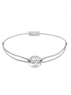 MOMENTOSS Damen Armband Filo Nachthimmel Silber hellgrau 19 cm 21202464