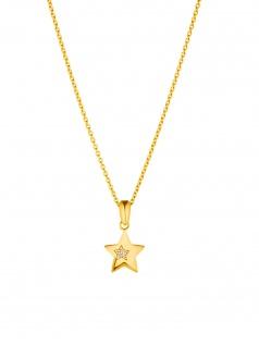 Prinzessin Lillifee 2029689 Mädchen Collier Stern Gold Weiß 38 cm