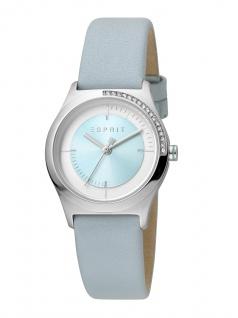 Esprit ES1L116L0035 Hood Uhr Damenuhr Lederarmband Blau