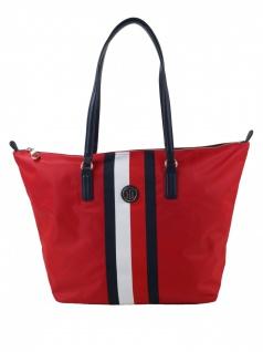 Tommy Hilfiger Damen Handtasche Tasche Shopper Poppy Tote Corp Rot