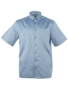 Eterna Herren Hemd Kurzarm Comfort Fit XL/43 Blau 8932/12/K19L