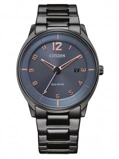 Citizen BM7408-88H Eco Drive Uhr Herrenuhr Edelstahl Datum grau