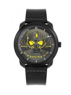 POLICE PL.15714JSB/02 BLEDER Uhr Herrenuhr Lederarmband Schwarz