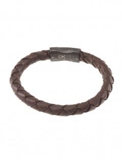 gooix 414-06764 Herren Armband Edelstahl braun 21 cm