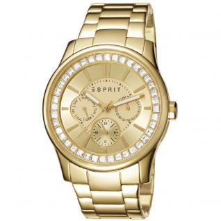 Esprit ES105442008 starlite gold Uhr Damenuhr vergoldet Datum gold