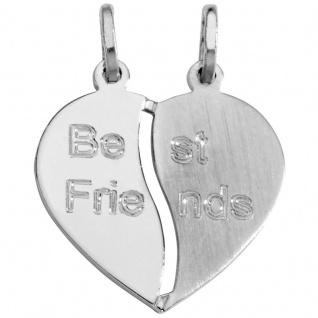 Basic Silber SL19 Anhänger Freundschaftsanhänger Herz Silber