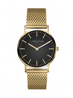 LIEBESKIND LT-0097-MQ Uhr Damenuhr Edelstahl Gold